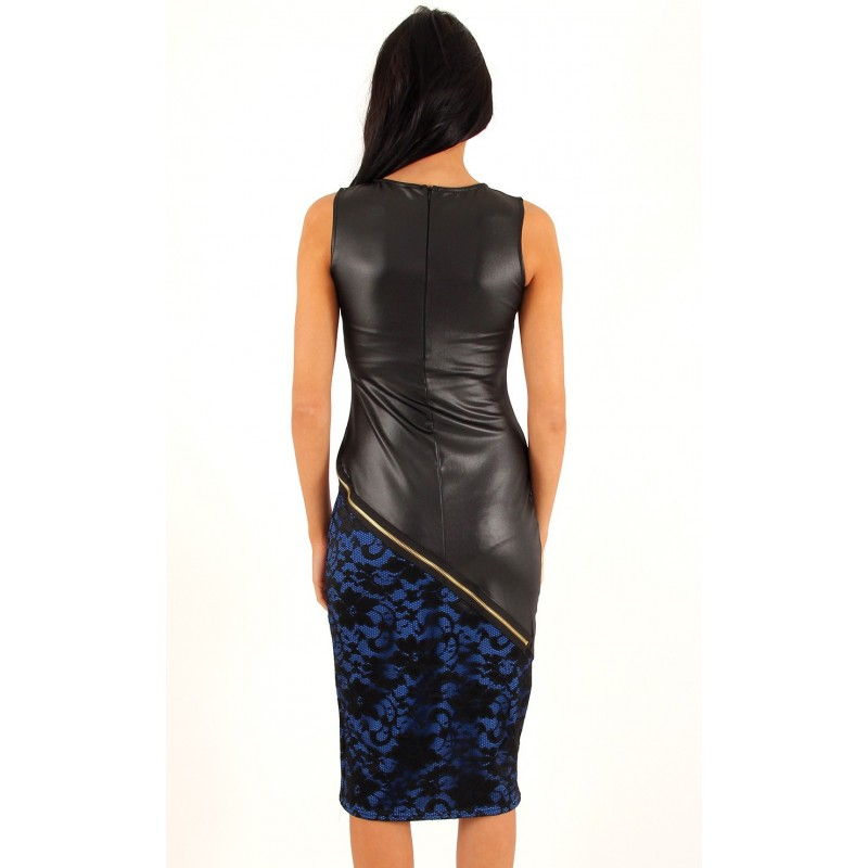 b6dde8041f5 Sinine kleit - Naiselik sinine-must kleit.