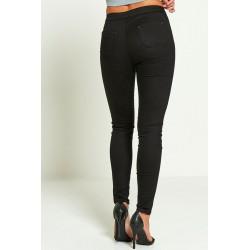 Kõrge vöökohaga mustad teksad