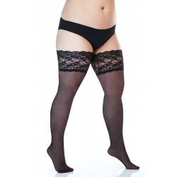 Pitsidega kaunistatud sukad, 20-DEN, Lycra, must
