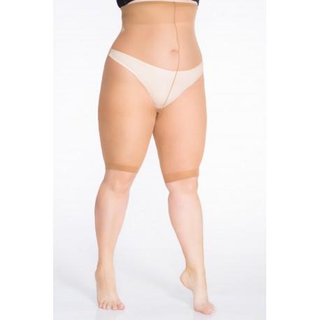 Hõõrdumisvastased lühikesed sukkpüksid, 30-DEN, must/beež, elastiil