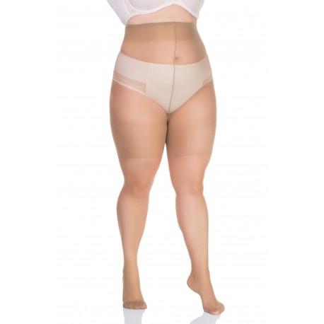 Hõõrdumisvastased lühikesed sukkpüksid, 20-DEN, beež/helebeež, lycra